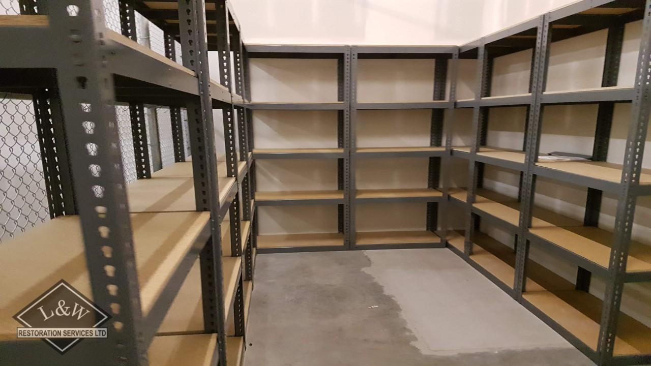 Offsite Stockroom Shelving Install
